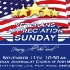 Veterans Appreciation Sunday -- All are Welcome!