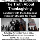 The Truth About Thanksgiving -Solidarity with the Indigenous Peoples' Struggle f