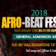 2018 Afro-Beat Festival (MORE INFO TBA)