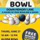 Bowl Down Memory Lane