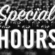 New Years Eve: Special Hours