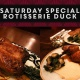 Saturday Rotisserie Duck for Two
