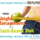 Free Health Seminar: Weight Management on a Plant-Based Diet