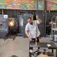"""Night Blow"" at the Morean Glass Studio"