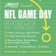 NFL Game Day Deals at Mac's Wood Grilled