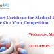 Export Certificate for Medical Devices - Out Your Competition!