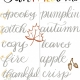 Fall Brush Lettering at TEF