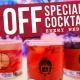 Wednesdays: Half Off Specialty Drinks!
