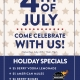4th of July Specials at Mac's Wood Grilled