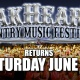 The 2019 OakHeart Country Music Festival