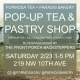 Pop Up Tea and Pastry Shop w/live music