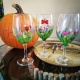Spring Green Wine Glass Painting at LDV Winery