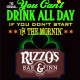St Pats Day: You Can't Drink All Day if You Don't Start in the Mornin at Rizzo's