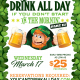 St. Patrick's Day: #YCDAD Part II Party at Rizzo's Bar & Inn