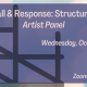 Fall for the Book presents Call & Response: Structures Artist Panel