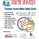 Freeman Farms Water Safety Event