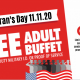 Veteran's Day Special 2020 - FREE Buffet for Veterans