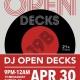 9pm - Open Decks - A DJ Meet Up