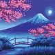 Adult Canvas Paint: Mt. Fuji in the Spring