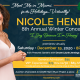 NICOLE HENRY announces her EIGHTH ANNUAL WINTER CONCERT
