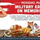 Military Eats Free on Memorial Day