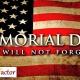 Memorial Day Discount 23-27 May 2019
