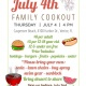 4th of July Family Cookou