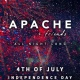 4th of July at ASTRA Rooftop in Wynwood Fireworks - APACHE + friends Party