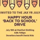 JYR July Social: Happy Hour 'Back to School' Drive