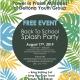 Back to School Splash Party