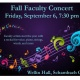 Fall Faculty Concert