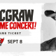 Tim McGraw Free Pregame Concert