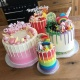 Fabulous Buttercream Creations - Rainbow Drip Cakes - Candy Shop
