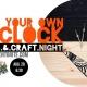 DIY Wall Clock - Crafts & Craft Night