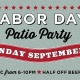 Labor Day Patio Party