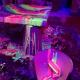 Halloween Black-Light Glow Puddle Painting