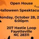 Bronco Toastmasters Halloween Speaktacular!