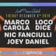 Marco Carola, Loco dice, Nic Fanciulli, and Joey Daniel (Space Basel)