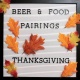 Thanksgiving Foods And Beers Pairing
