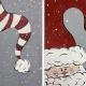 You Pick! Snow Santa **12x12 canvas**