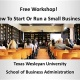 FREE Workshop in Dallas! How To Start and Run A Small Business