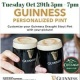 Guinness Personalized Pint Event | The Cottage Irish Pub