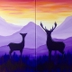 Father's Day - Deer at Sunrise - Set