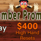 $300 High Hand Resets
