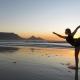Post Thanksgiving yoga on the beach