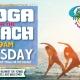 Tuesday Yoga on the Beach at Caddy's Treasure Island 7/27