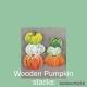 Wooden Cut Out Pumpkin Stack