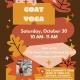 Kids Goat Yoga and Halloween Activities