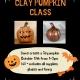 Clay pumpkin art class