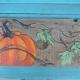 Pumpkin painted on wood